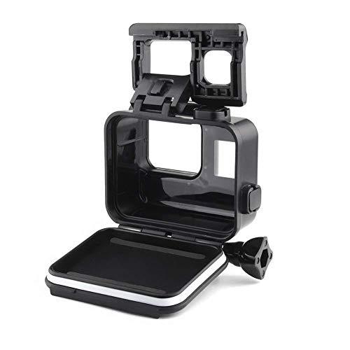 Yangers Wasserdichte Schutzhülle Gehäuse Zubehör für GoPro Hero 7 Black Modell 6 5 Action-Kamera, Silikon-Unterwasserschutz-Käfigabdeckung mit hinterer Tür-Touchscreen