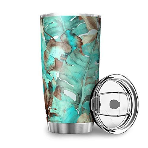 shenminqi Taza clásica de café de acero inoxidable 18/8 con aislamiento al vacío, para viajes, camping, senderismo, color blanco 600 ml