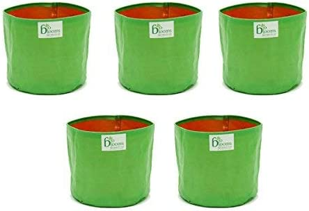 "Bio Blooms Grow Bag For Vegetables And Spinach's Terrace Gardening Agro 12"" X 12"" (Pack Of 5)Bio_3B"