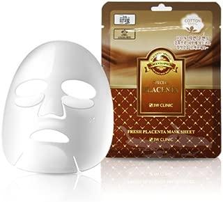 3W CLINIC Premium Placenta Mask 10 Sheets Anti-wrinkle Moisturizing