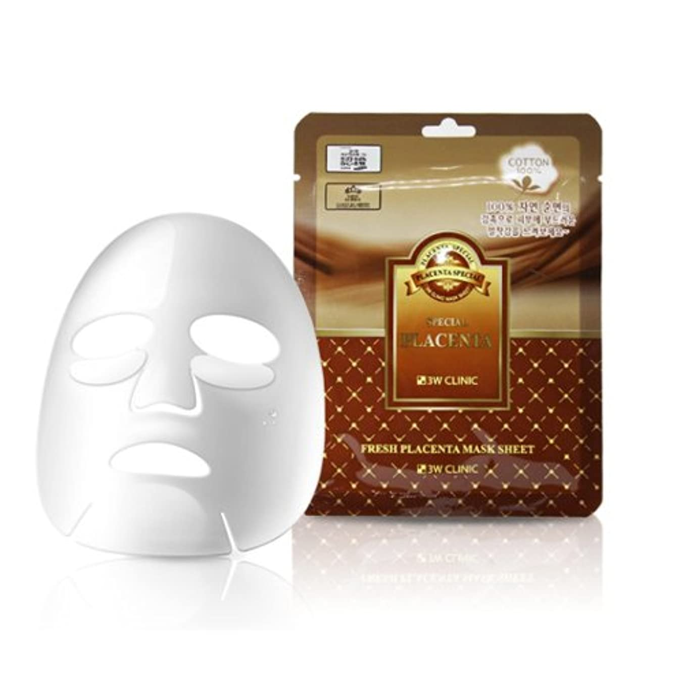 重要層ポテト3Wクリニック[韓国コスメ3w Clinic]Premium Placenta Mask Pack プレミアムプラセンタシートマスクパック10枚[並行輸入品]