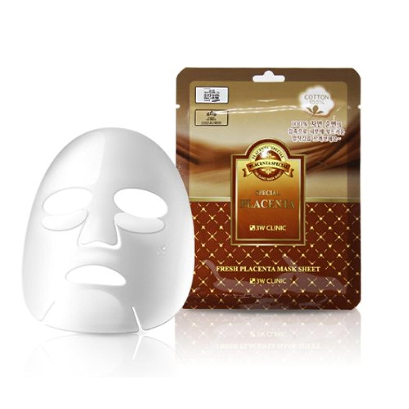 ハードリング十年まあ3Wクリニック[韓国コスメ3w Clinic]Premium Placenta Mask Pack プレミアムプラセンタシートマスクパック10枚[並行輸入品]