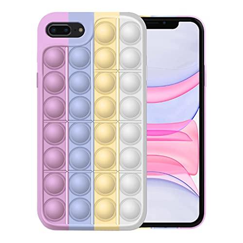 Fidget Toy Funda para iPhone 8/8 Plus Apple,Fidget Toy Pack iPhone 8/8 Plus Funda Silicona Antigolpes Pop It Fidget Toys Set Case (iPhone 8 Plus, 4)