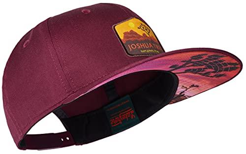 Lakeshore® Snapback Cap, National Park Joshua Tree, Unisex, Größenverstellbar, Weinrot