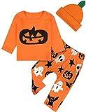 MOMBEBEB COSLAND Conjunto de Ropa Calabaza Bebés Niños Traje Halloween 6-12 Meses Naranja