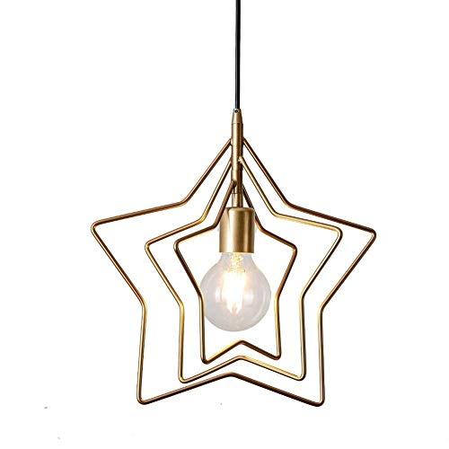 Araña de estrellas de personalidad creativa, cable colgante, longitud de 1,2 metros, ajustable, cabeza de lámpara E27 XYJGWDD
