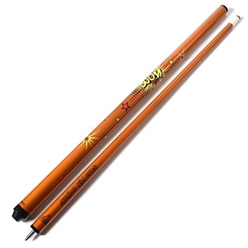 CUESOUL カラフルなデザイン48インチジュニア用ビリヤードキュースティック Orange