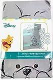 Disney Juego de Funda de edredon con Almohada Reversible 100% algodón, color gris diseño Winnie the Pooh Medidas 120x150cm y 50x60cm