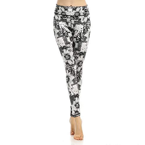Feidaeu Damen Hose schnell trocknend eng anliegend bequem ultraleichte gedruckte Hose Yoga Laufen Sport Indoor oder Outdoor-Kleidung