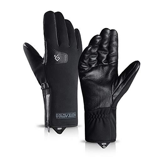 LLUVIAXHAN Winter-Handschuhe Männer Frauen Touchscreen Thermal 3M Thinsulate windundurchlässiger Cold Weather Handschuhe für Fahren Laufen Laufen,S