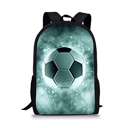 HUANIU Children's Backpack 3d Creative Football Backpack Cartoon Ultralight Student School Bag Shoulder Bag Travel Backpack Computer Bag Large Capacity F-15in * 10.7in * 4.2in