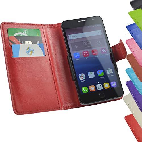ikracase Tasche für TP-Link Neffos C9 Max Aldi Smartphone Hülle Slide Case Cover Handy Tasche Handyhülle Schutzhülle in Rot 5.5