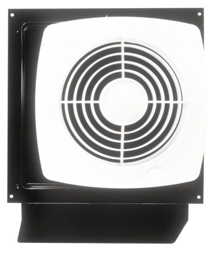 Broan-Nutone 509S Through-the-Wall Ventilation Fan, White Square Exhaust Fan, 6.5 Sones, 180 CFM, 8'