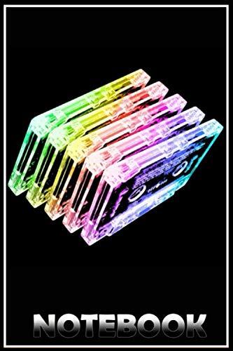 Cassette Tape Rainbow crazy funny matte cover notebook - 6x9 PDF Books