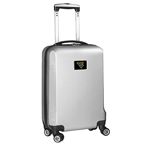 "West Virginia Mountaineers 21"" 8-Wheel Hardcase Spinner Carry-On - Silver"