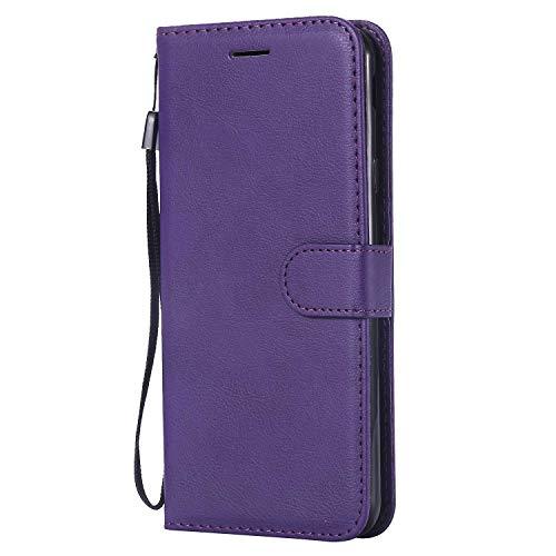 DENDICO Cover Galaxy J4 Plus 2018, Premium Portafoglio PU Custodia in Pelle, Flip Libro TPU Bumper Caso per Samsung Galaxy J4 Plus 2018 - Viola