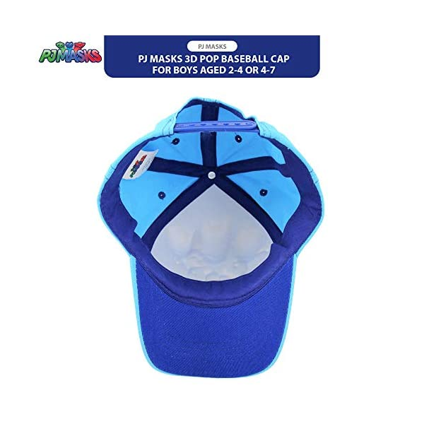 PJ Masks Boys Baseball Cap with Character 3D POP (Ages 2-7)