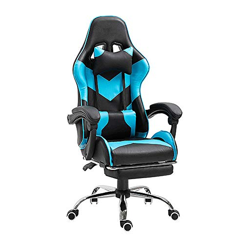 MHUI Gaming Chair Racing Style Ergonomic High Back Computer Chair Headrest and Lumbar Support Swivel Chair