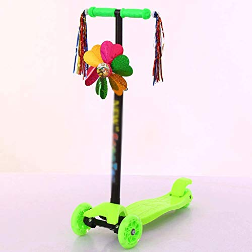 SZNWJ ygqtbc Vespa del Retroceso for los niños de 3 Ruedas Scooter for los niños y niñas Niños, Extra Ancho Deck y Freno, for niños de 3 a 11 años (Color : C)