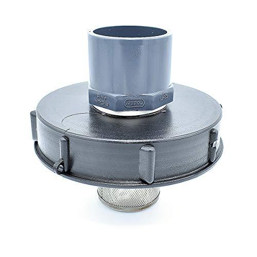 Multitanks - Couvercle 15cm pour cuve 1000L avec entrée PVC 63/75 et filtre 2 pouces