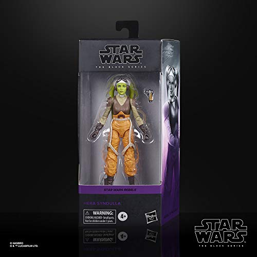 Star Wars The Black Series Hera Syndulla Toy 6-Inch-Scale Rebels Collectible Action Figure, Toys for Kids Ages 4 and Up