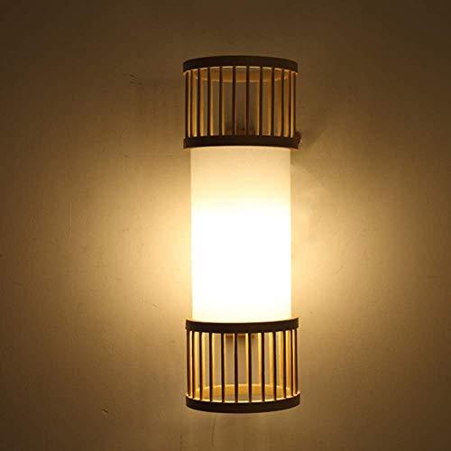 YANQING duurzame Scandinavische minimalistische creatieve muur lamp bamboe verlichting armaturen 10-15 vierkante meter restaurant slaapkamer Study Cafe