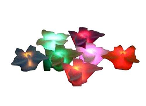 3 LED Kerze weiß Butterfly Schmetterling im 3er Set mit Farbwechsel 15022