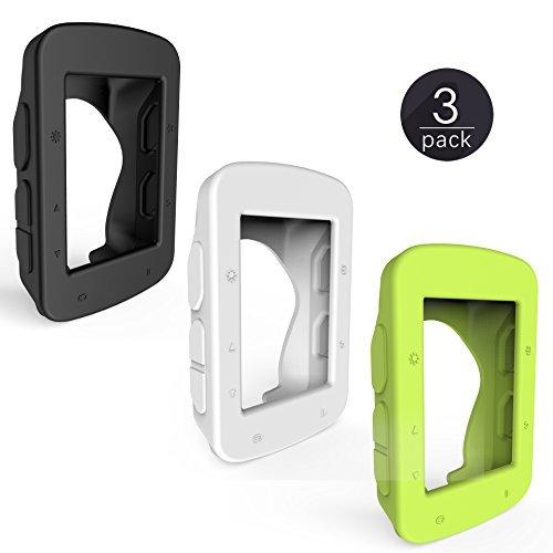 TUSITA Funda Protectora de Silicona + Protector de Pantalla para Garmin Edge 520 820 GPS Bike Computer (3 Paquetes)
