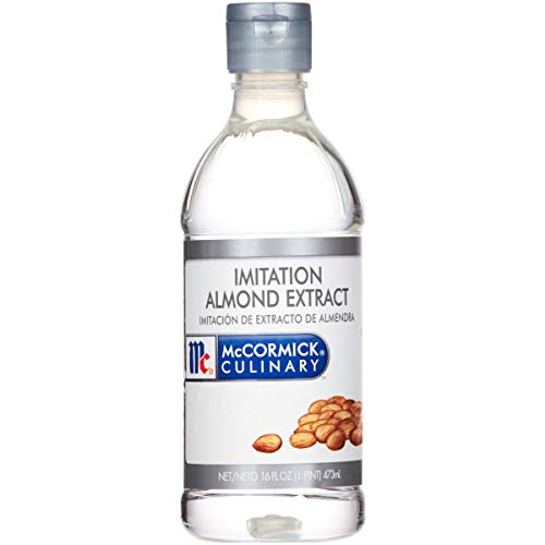 McCormick Imitation Almond Extract - 1 pint bottle, 6 per case