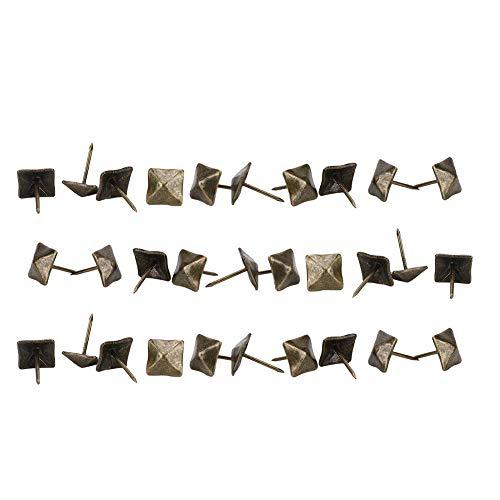 ViaGasaFamido Alfileres Antiguos, 50 Uds, Cabeza Cuadrada, Bronce Cian, tapicería de Hierro, Clavo para Puerta, Muebles Decorativos Retro, Tachuela, Accesorios de Hardware(14x20mm)