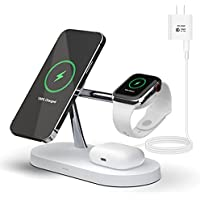 PonKet 4-in-1 Magnetic Wireless Charger Station