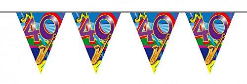 10 m verjaardag wimpel slinger ketting 40 jaar party decoratie verjaardag