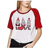 yazidan Loving - Camiseta de Manga Corta para Mujer y Hombre, diseño con Texto Loving 3-Rojo XXXXXL
