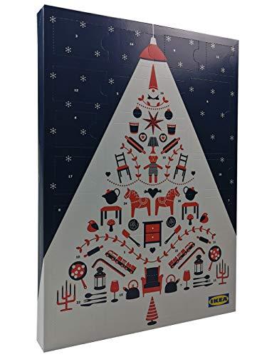 Ikea Adventskalender 2018 gefüllt mit Schokolade und inkl. 2 IKEA Aktionskarten