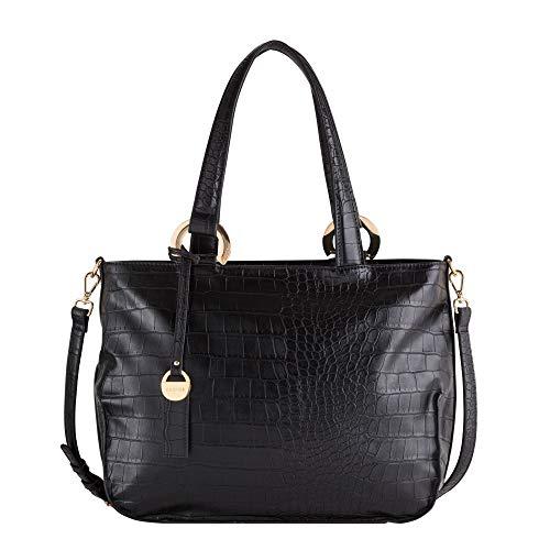 CARPISA® Handtasche in Krokodiloptik GILDA, Schwarz One size