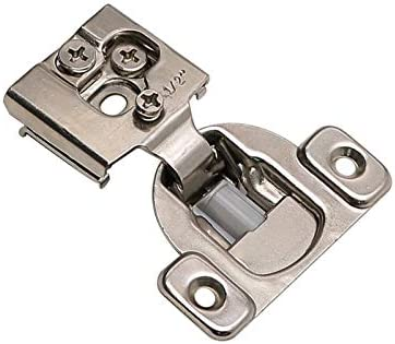 20 Pack goldenwarm 1 2 Overlay Soft Close Cabinet Hinges for Kitchen Cabinets Satin Nickel SCH12SNB product image