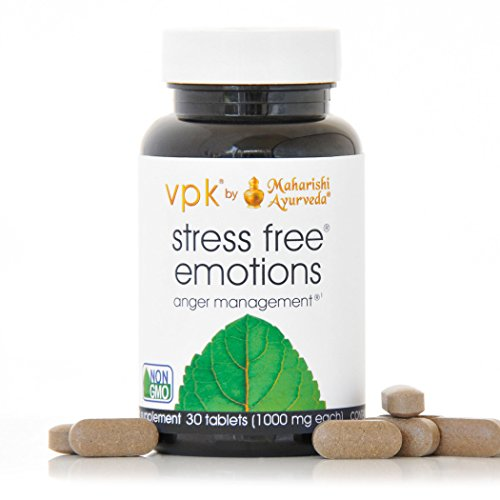 Stress Free Emotions | 30 Herbal Tablets - 1000 mg ea. | Anger Management | Natural Support for Stress Relief & Emotional Highs & Lows