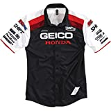 100% Men's Approach Pit Geico/Honda Shirts,Medium,Black