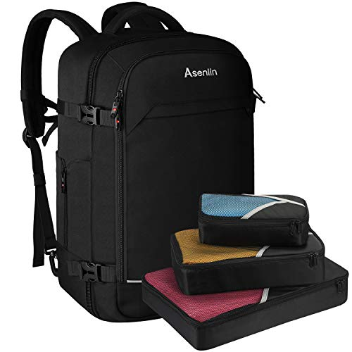 Asenlin 40L Travel Backpacks for Men Women,Flight Approved Luggage Carry On Travel Backpack Suitcase for Weekender Overnight