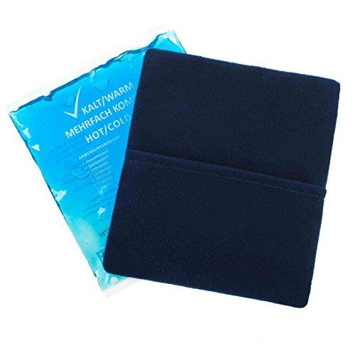 10 Stück 13 cm x 14 cm Kalt-Warm Kompresse + 5 Premium Vlieshüllen Mehrfach kompresse Wiederverwendbar Coolpack Mikrowellen geeignet
