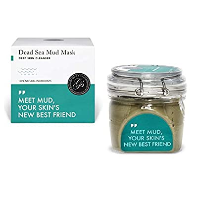 Dead Sea Mud Mask 200g Large Jar - Hydrating Clay Facial Body Mask Anti Ageing Pimple Blackhead & Acne Scar Treatment Exfoliating Spa for All Skin Types