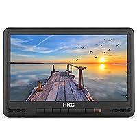 HKC P10H6 Mini TV portátil (TV HD de 10 Pulgadas) HDMI + USB, 60Hz, Reproductor Multimedia, batería incorporada, Cargador de Coche de 12 V, Antena portátil