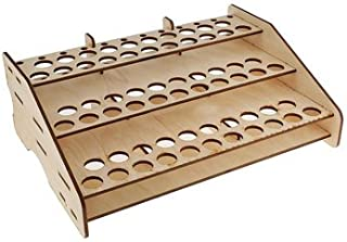 Generic 63 Position Wooden Color Paints Bottle Storage Rack Tools Holder Modular Organizer