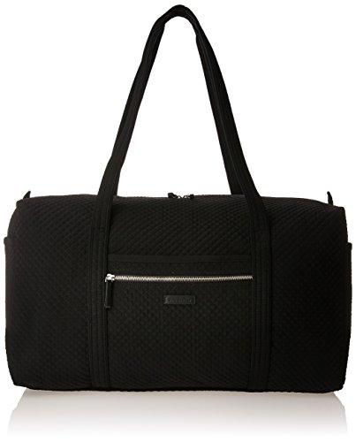 Vera Bradley Women's Duffle Microfiber Large Duffel Travel Bag, Classic Black, One Size