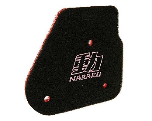Naraku Filtre à air pour Benelli 491 Sport 50, 491 St 50, K2 50/LC Minarelli Moteur AC