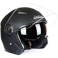 Cascos protectores para motos Casco de moto de cara abierta Cruiser Chopper Scooter Cafe Racer Casco de moto Casco de cara abierta 3/4