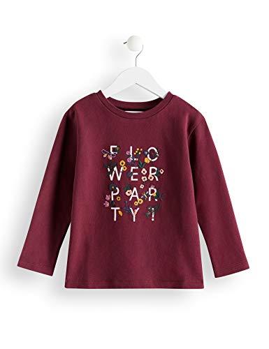 RED WAGON Amazon-Marke: RED WAGON Mädchen T-Shirt Crew Neck Printed Sweat, Rot (Burgandy), 104, Label:4 Years