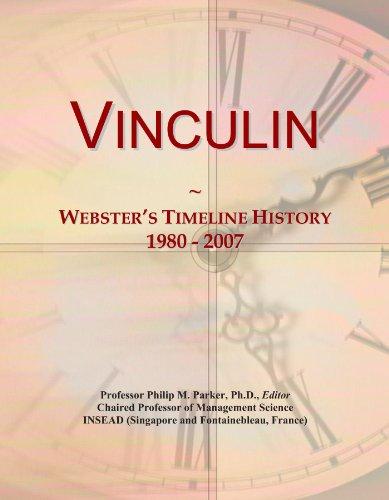 Vinculin: Webster's Timeline History, 1980 - 2007