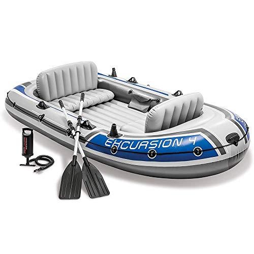 HWZQHJY Pesca Kayak Inflable, 4 Persona Bote Inflable Conjunto de Aluminio con remos y Bomba de Aire de Alto Rendimiento