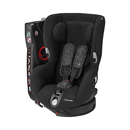 Maxi-Cosi Axiss, draaibare kinderzitje, groep 1 autostoel (9-18 kg), te gebruiken vanaf 9 maanden tot 4 jaar, verschillende kleuren en accessoires Kinderzitje. Gruppe 1 (9-18 kg) zwart grid